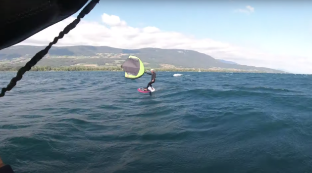 Balz Müller Wing Foil swiss lake swell