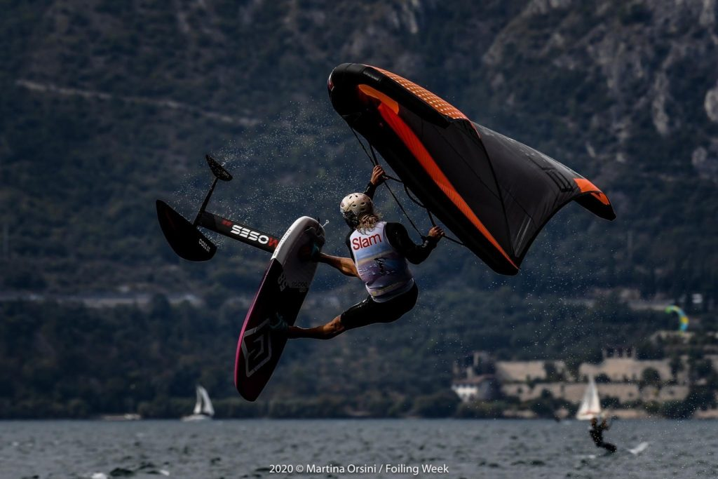 Balz Müller during the Freestyle Competition at the Wing Foil Tour