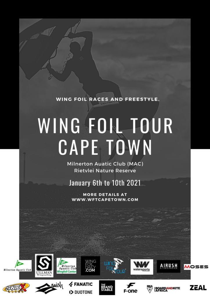 Wing Foil Tour Cape Town Poster on WINGFOILDAILY
