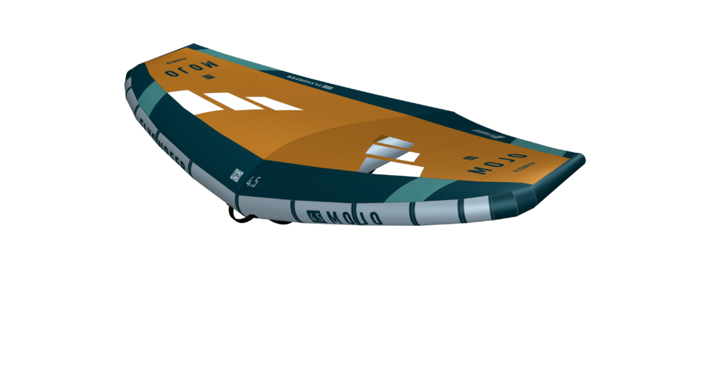 This is one of the 4 different color options of the Flysurfer Mojo Wing 2021.