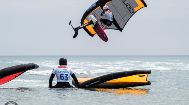GWA Wing Foil World Cup Leucate 2021 Day 02 Balz Muller action