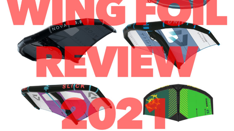 Wing Foil Review 2021 best 4 metre wing for wing foiling in 2021.